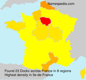Surname Dockx in France