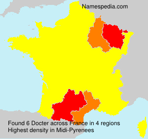 Surname Docter in France