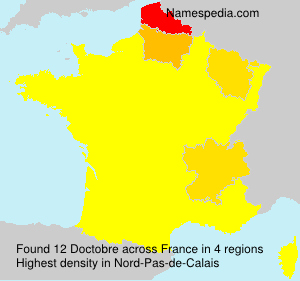 Surname Doctobre in France