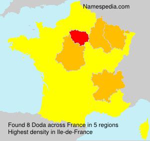 Surname Doda in France