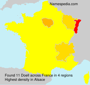 Surname Doell in France