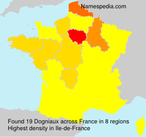 Surname Dogniaux in France