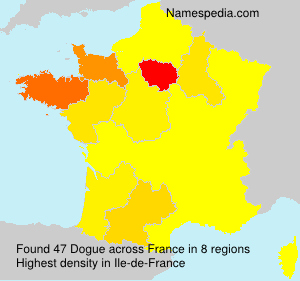 Surname Dogue in France