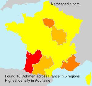 Familiennamen Dohmen - France