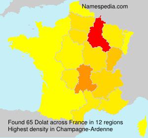 Surname Dolat in France