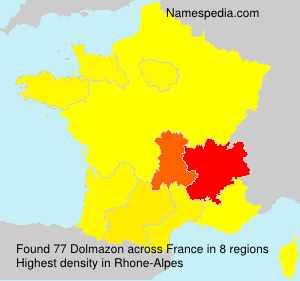 Surname Dolmazon in France