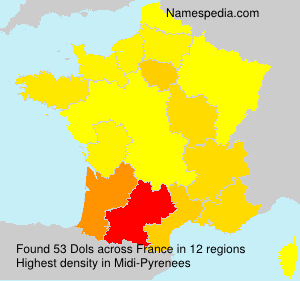 Surname Dols in France