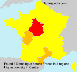 Surname Domaingue in France