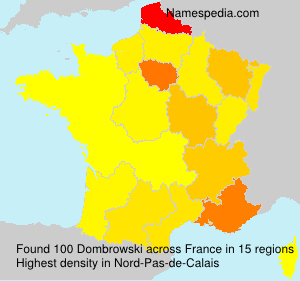 Surname Dombrowski in France