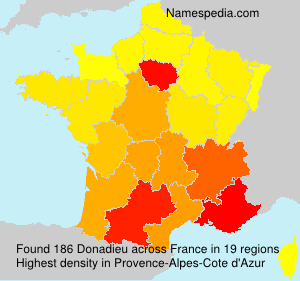 Surname Donadieu in France