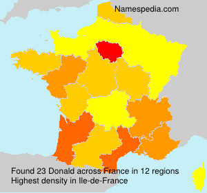 Surname Donald in France