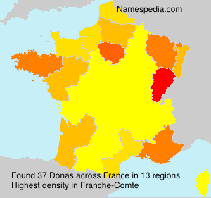 Surname Donas in France