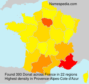 Surname Donat in France