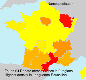 Surname Donate in France