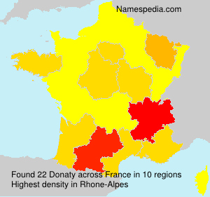 Surname Donaty in France