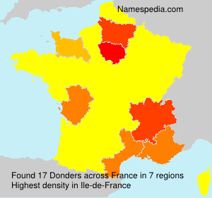 Surname Donders in France