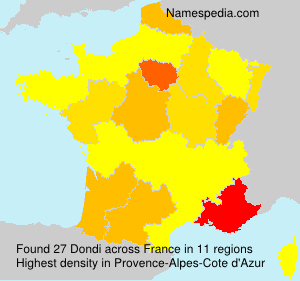 Surname Dondi in France
