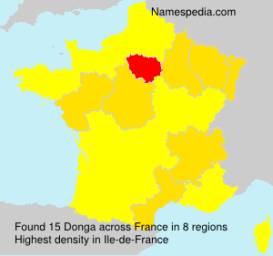 Surname Donga in France