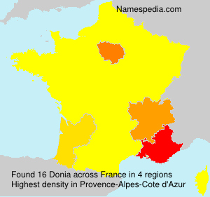 Surname Donia in France