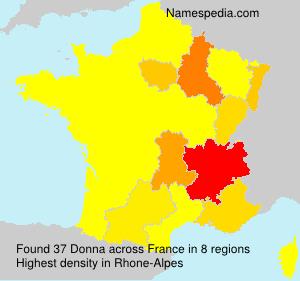 Surname Donna in France