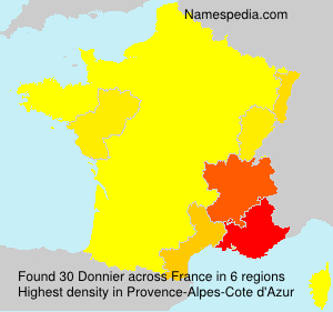 Surname Donnier in France