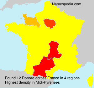 Surname Donore in France