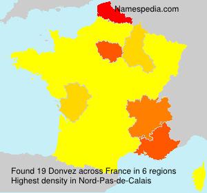 Familiennamen Donvez - France