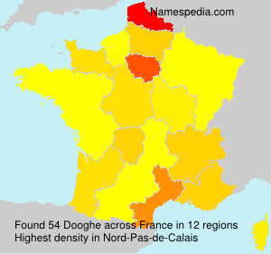 Surname Dooghe in France