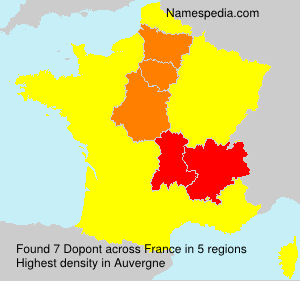 Surname Dopont in France