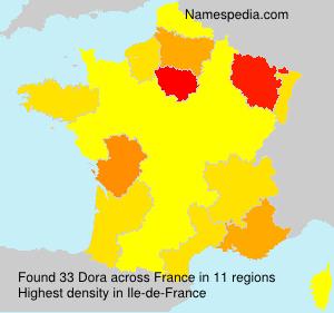 Familiennamen Dora - France