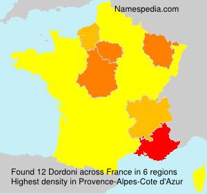 Surname Dordoni in France