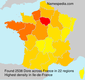 Surname Dore in France