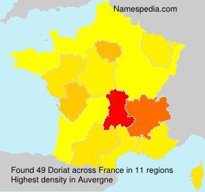 Surname Doriat in France