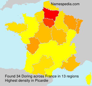 Surname Doring in France