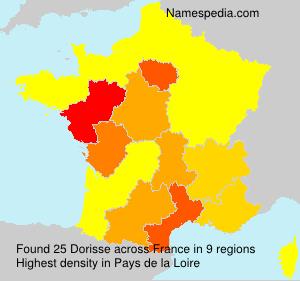 Familiennamen Dorisse - France