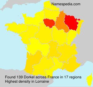 Familiennamen Dorkel - France