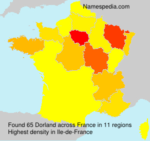 Surname Dorland in France
