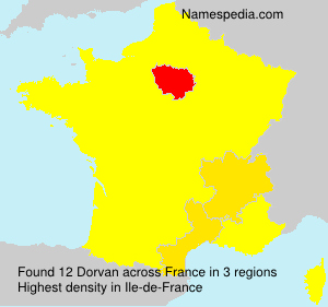 Familiennamen Dorvan - France