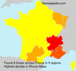 Surname Doser in France