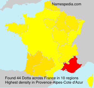 Surname Dotta in France