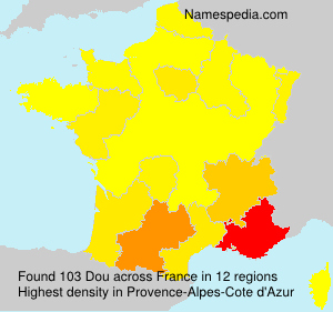 Surname Dou in France