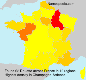 Surname Douette in France