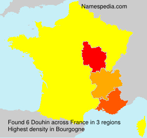 Surname Douhin in France