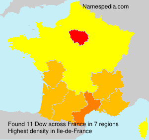 Surname Dow in France
