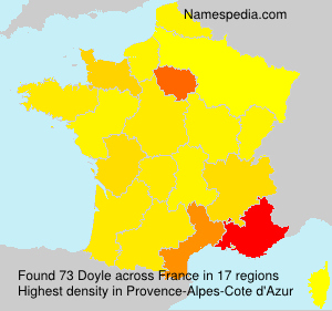Surname Doyle in France