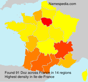 Surname Doz in France