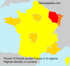 Surname Drand in France