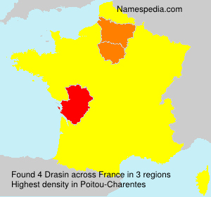 Surname Drasin in France