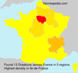 Surname Draskovic in France