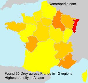 Surname Drey in France